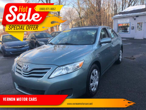 2010 Toyota Camry for sale at VERNON MOTOR CARS in Vernon Rockville CT