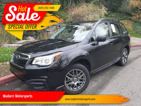 2017 Subaru Forester for sale at Mudarri Motorsports in Kirkland WA