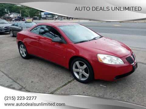 2006 Pontiac G6 for sale at AUTO DEALS UNLIMITED in Philadelphia PA