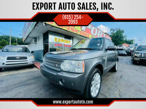 2007 Land Rover Range Rover for sale at EXPORT AUTO SALES, INC. in Nashville TN
