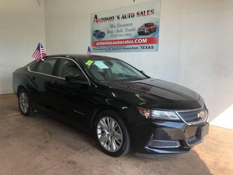 2016 Chevrolet Impala for sale at Antonio's Auto Sales - Antonio`s  2206 in Pasadena TX