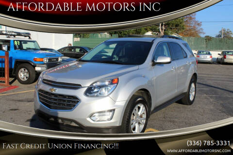 2016 Chevrolet Equinox for sale at AFFORDABLE MOTORS INC in Winston Salem NC