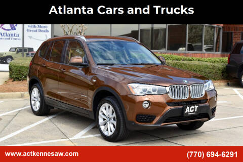 2017 BMW X3 for sale at Atlanta Cars and Trucks in Kennesaw GA