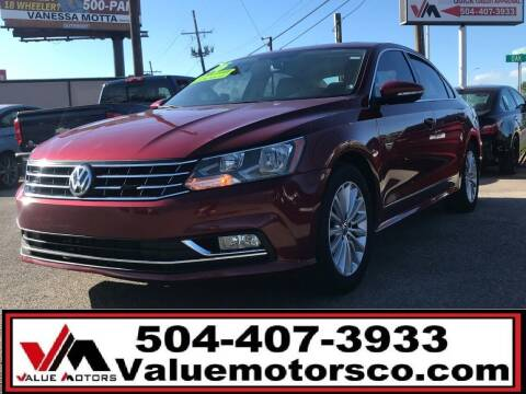 2016 Volkswagen Passat for sale at Value Motors Company in Marrero LA