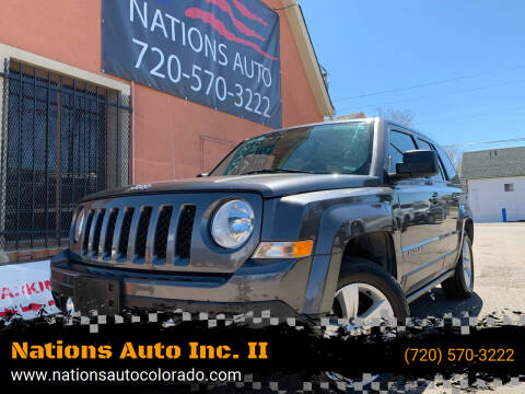 2017 Jeep Patriot for sale at Nations Auto Inc. II in Denver CO