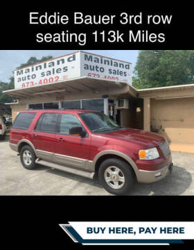 2003 Ford Expedition for sale at Mainland Auto Sales Inc in Daytona Beach FL