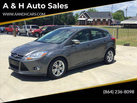 2012 Ford Focus for sale at A & H Auto Sales in Greenville SC