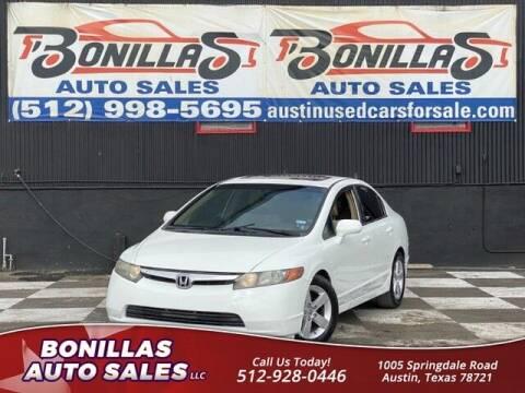 2008 Honda Civic for sale at Bonillas Auto Sales in Austin TX