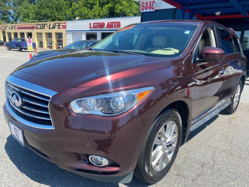 2013 Infiniti JX35 for sale at 1 Stop Auto in Norfolk VA