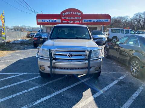 2006 Toyota Tundra for sale at Sandy Lane Auto Sales and Repair in Warwick RI