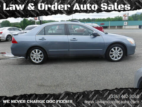 2007 Honda Accord for sale at Law & Order Auto Sales in Pilot Mountain NC