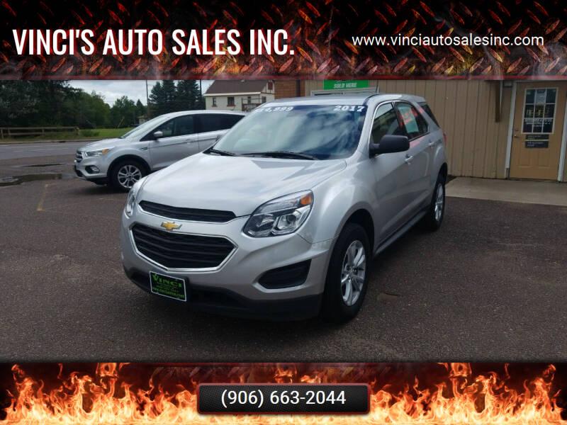 2017 Chevrolet Equinox for sale at Vinci's Auto Sales Inc. in Bessemer MI