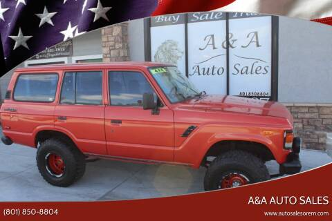1981 Toyota Land Cruiser for sale at A&A Auto Sales in Orem UT