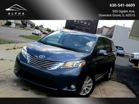 2017 Toyota Sienna for sale at Alpha Luxury Motors in Downers Grove IL