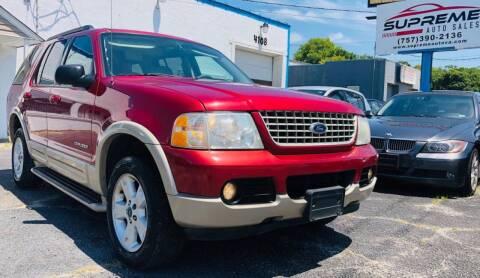 2005 Ford Explorer for sale at Supreme Auto Sales in Chesapeake VA