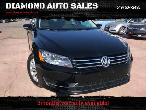2015 Volkswagen Passat for sale at DIAMOND AUTO SALES in El Cajon CA