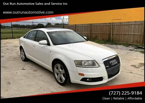 2008 Audi A6 for sale at Out Run Automotive Sales and Service Inc in Tampa FL