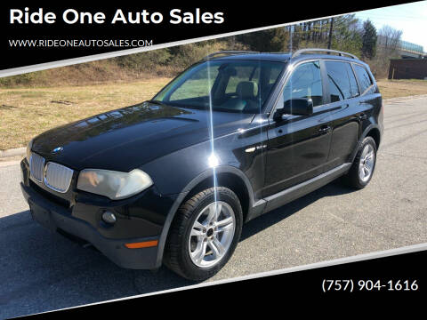 2008 BMW X3 for sale at Ride One Auto Sales in Norfolk VA
