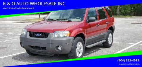 2007 Ford Escape for sale at K & O AUTO WHOLESALE INC in Jacksonville FL