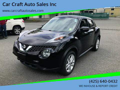 2015 Nissan JUKE for sale at Car Craft Auto Sales Inc in Lynnwood WA
