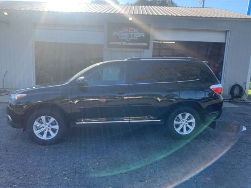 2013 Toyota Highlander for sale at Jack Foster Used Cars LLC in Honea Path SC