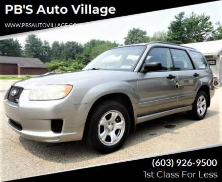 2007 Subaru Forester for sale at PB'S Auto Village in Hampton Falls NH