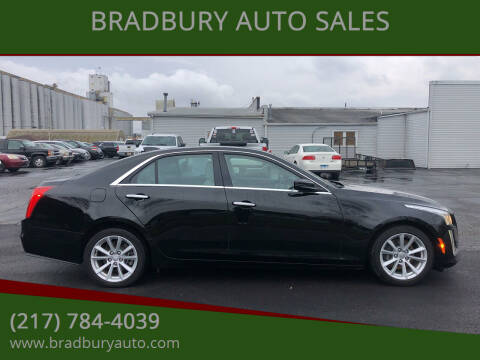 2018 Cadillac CTS for sale at BRADBURY AUTO SALES in Gibson City IL