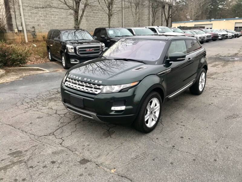 2012 Land Rover Range Rover Evoque Coupe for sale at Five Brothers Auto Sales in Roswell GA