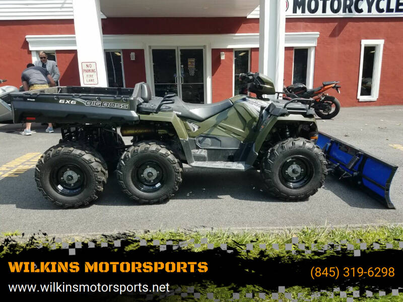 2018 Polaris Sportsman Big Boss 6x6 570 EPS for sale at WILKINS MOTORSPORTS in Brewster NY