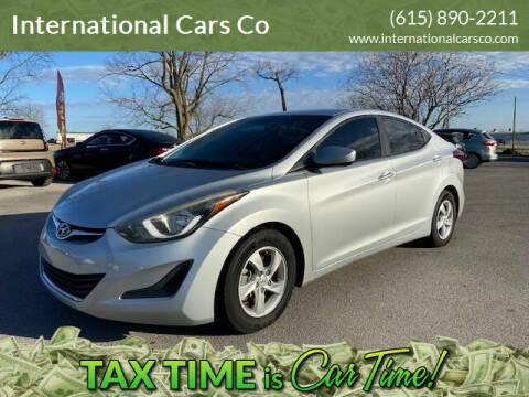 2014 Hyundai Elantra for sale at International Cars Co in Murfreesboro TN