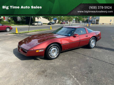1987 Chevrolet Corvette for sale at Big Time Auto Sales in Vauxhall NJ