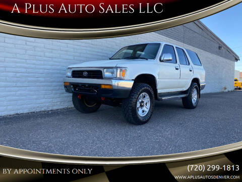 1994 Toyota 4Runner for sale at A Plus Auto Sales LLC in Denver CO