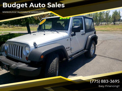 2008 Jeep Wrangler for sale at Budget Auto Sales in Carson City NV