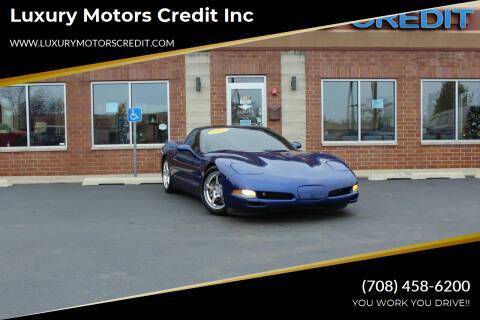 2004 Chevrolet Corvette for sale at Luxury Motors Credit Inc in Bridgeview IL