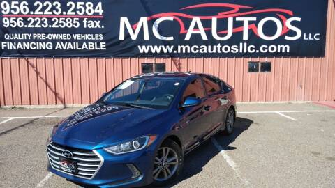 2017 Hyundai Elantra for sale at MC Autos LLC in Pharr TX