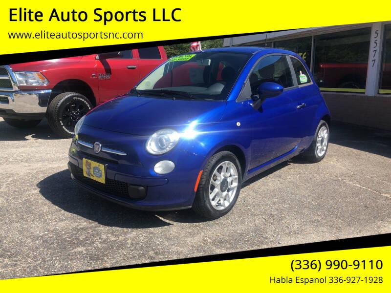 2013 FIAT 500 for sale at Elite Auto Sports LLC in Wilkesboro NC