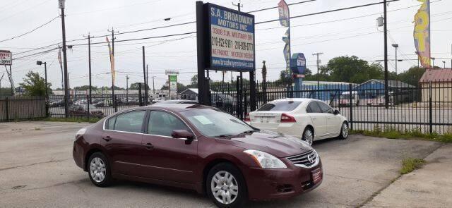 2011 Nissan Altima for sale at S.A. BROADWAY MOTORS INC in San Antonio TX
