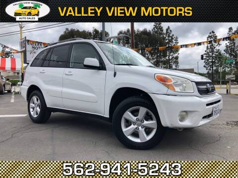 2005 Toyota RAV4 for sale at Valley View Motors in Whittier CA