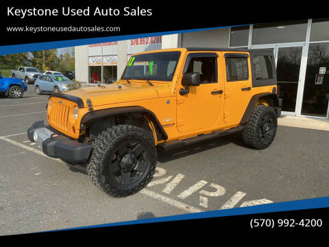 2012 Jeep Wrangler Unlimited for sale at Keystone Used Auto Sales in Brodheadsville PA