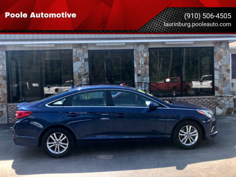 2017 Hyundai Sonata for sale at Poole Automotive in Laurinburg NC