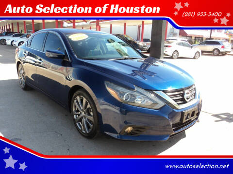2018 Nissan Altima for sale at Auto Selection of Houston in Houston TX