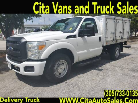 2011 FORD F250 SD DELIVERY TRUCK UTILITY TRUCK. F-250 UTILITY for sale at Cita Auto Sales in Medley FL