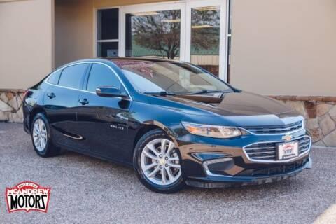 2018 Chevrolet Malibu for sale at Mcandrew Motors in Arlington TX