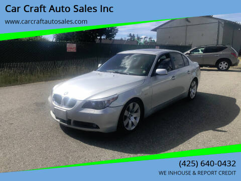 2006 BMW 5 Series for sale at Car Craft Auto Sales Inc in Lynnwood WA
