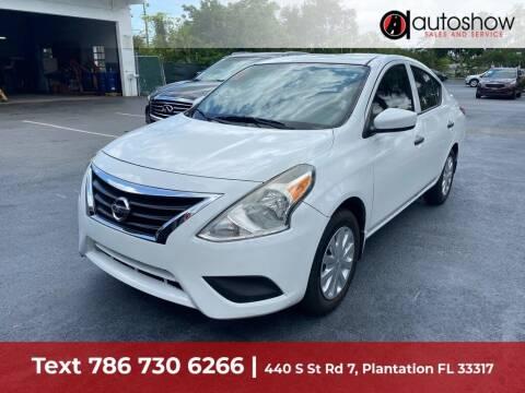 2016 Nissan Versa for sale at AUTOSHOW SALES & SERVICE in Plantation FL