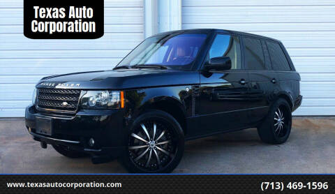 2012 Land Rover Range Rover for sale at Texas Auto Corporation in Houston TX