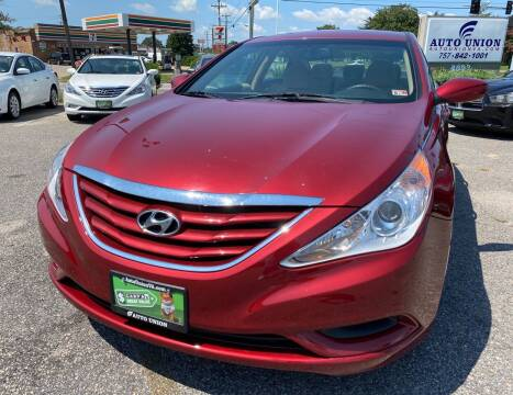 2012 Hyundai Sonata for sale at Auto Union LLC in Virginia Beach VA