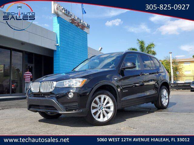 2017 BMW X3 for sale at Tech Auto Sales in Hialeah FL