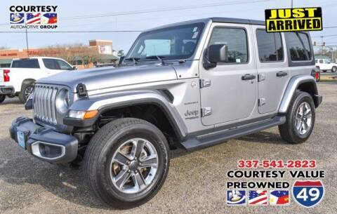 2020 Jeep Wrangler Unlimited for sale at Courtesy Value Pre-Owned I-49 in Lafayette LA