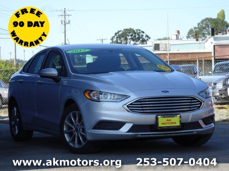 2017 Ford Fusion for sale at AK Motors in Tacoma WA